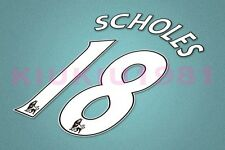 Manchester United Scholes #18 PREMIER LEAGUE 07-13 White Name/Number Set