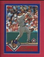 Ivan Rodriguez 2003 Topps Series 1 Card # 80 Texas Rangers Baseball MLB HOF