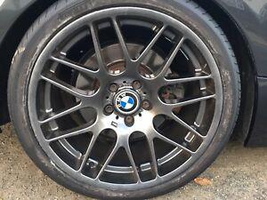 E46 M3 CSL Style 19 Inch Alloy Wheel Set & Tyres (8mm) will fit E90/E92/E39 Etc