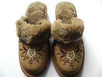 Women`s/Ladies Slippers Natural Sheepwool All size Colors:Red,Green,Beige,Brown