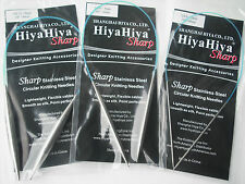"HiyaHiya 5.0mm x 40cm (16"") Sharp Steel Circular Knitting Needles"