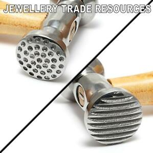 JEWELLERS SILVERSMITHS TEXTURE TEXTURING HAMMER 2 FACES JEWELLERY SILVERSMITHING