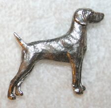 WEIMARANER Dog Harris Fine PEWTER PIN Jewelry Art USA Made
