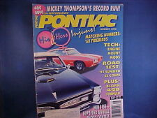 """very nice """"High Performance PONTIAC"""" magazine from collection--August 1993"""