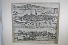 Radierung Halberstadt / Quedlinburg Halberstadium / Quedlinburga ~ 1600