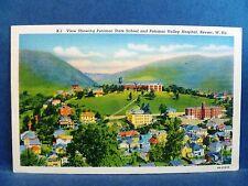 Postcard WV Keyser Potomac State School College & Potomac Valley Hospital