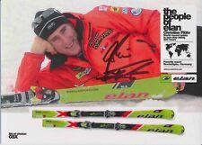Christian flühr ski alpin freestyle autografiada mapa original firmado 380168