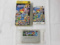 V2733 Nintendo Super Famicom Rockman X2 Megaman Japan SFC SNES w/box