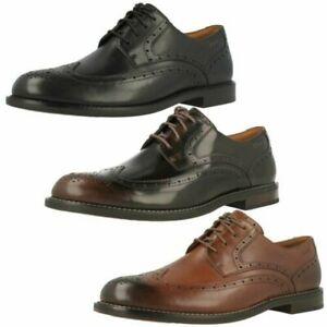 Mens Clarks Formal Lace Up Brogue Shoes 'Dorset Limit'