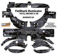 Black Camouflage FatShark Dominator V2 V3 HD2 HD3 Skin Wrap Decal Fat Shark