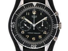 Heuer Bundeswehr colección chronograph estrella tiempo regula exclusivamente