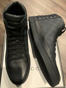 Gucci Canvas Leather High Top 12(US13)