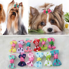 10pcs Multicolor Cat Dog Hair Bows Hair Clips Beauty Pet Grooming Accessories
