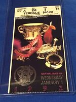 USF&G Sugar Bowl College Football Ticket Stub - January 1, 1992 - Notre Dame