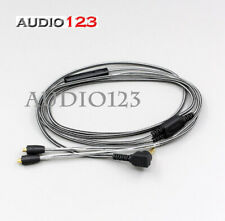 Soft 5N OFC Coppe cable cord with Mic for SHURE SE535 SE425 SE315 SE846 1.25m