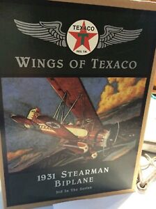 ERTL Wings Of Texaco 1931 Stearman Biplane 3rd In The Series diecast bank NIB