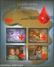NIGER  2014  BATTLE AGAINST MALARIA RED CROSS SHEET  PERFORATED MINT NH