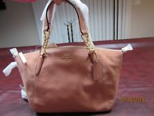 Coach Mixed Leather Small Kelsey Handbag in Melon, NWT F31410
