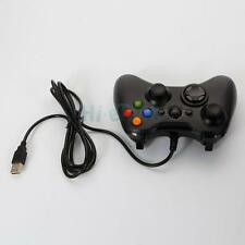 Wired Xbox 360 USB Remote Game Controller Gamepad for PC Windows Computer Black