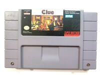 Clue Super Nintendo Entertainment System SNES Game - Tested - Working -Authentic