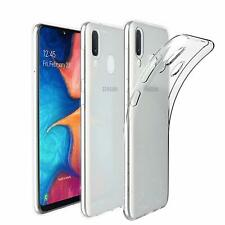 For Samsung Galaxy A20E Clear Gel Back Silicone Case With Free Screen Protector