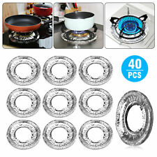 40pcs/set Aluminum Foil Round Gas Burner Disposable Bib Liners Stove Covers