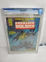 Marvel Preview #5 CGC 9.4 NM Marvel Comics 1976 1st. Sherlock Holmes in Marvel
