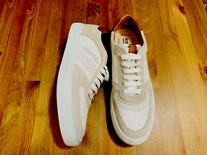 Earth Fayette lace up men's casual leather shoes off white NWOB size 12 (46D)