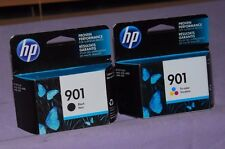 Set of 2 Genuine HP 901 Black CC653AN,Tri-Color CC656AN Ink Cartridge-New Sealed