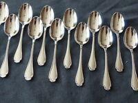 CHRISTOFLE ALFENIDE Pompadour 12 demi-tasse spoons moka expresso 10cm MINT