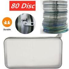 80 Disc CD DVD Case Storage Box Bag Album Organizer Wallet  Holder White