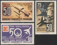 LA TURQUIE Turque de 1961 Force Aérienne 50th/avions/Fusées/MILITAIRE/Eagle 3 V Set (n24179)