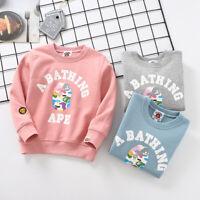 Kids Boy Girl Baby Milo Colorful Bape Monkey Head Sweatershirt Hoodie