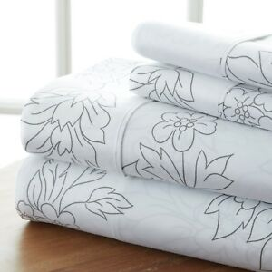 Home Collection Premium Ultra Soft Vine Pattern 4 Piece Bed Sheet Set
