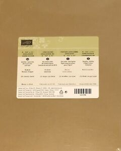 Stampin Up BAKED BROWN SUGAR Cardstock 8  1/2 x 11 Retired In Color 24 Sheets
