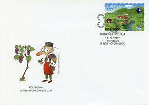 Slovenia Landscapes Stamps 2021 FDC Dolensjka EDEN Tourism Nature 1v Set