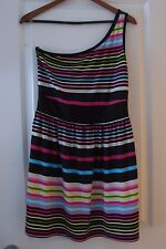 BEBOP: ONE-SHOULDER STRIPED DRESS – Juniors Sz L