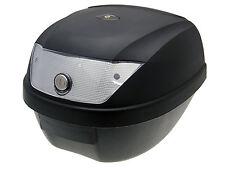 Top case valise noir 28l/réflecteur blanc pour ATV quad roller scooter mobylette