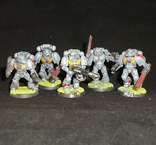 Warhammer 40K Espacio Marina Ejército 5 Man Squad Plástico Pintado