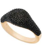 Swarovski Stone 23k Gold-plated Black Crystal Ring 5412036