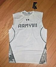 Under Armour White Sleeveless Compression Shirt Army Of 11 Football Sz 2Xl*Nwt