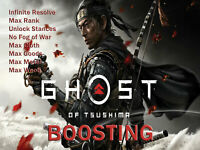 Ghost of Tsushima (PS4) Mod Max Resolve Rank Cloth Goods Metal Wood (Not A Game)
