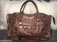 Authentic Balenciaga Brown Sienna Part Time bag with Classic Hardware City