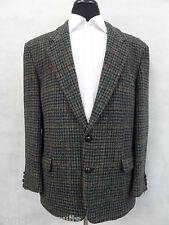 Men's Green Houndstooth Checked  Harris Tweed Jacket Blazer 42R EZ56