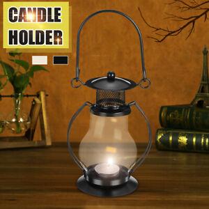Candle Hanging Stand Lantern Iron Craft Candlelight Holder Candlestick  US*