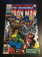 Iron Man#114 Incredible Condition 8.5(1978) 1st Arsenal App, Unicorn,Avengers!!