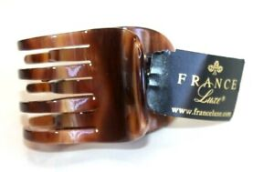 France Luxe women's hairclip Jaw caramel horn size Medium OS new Hairclip