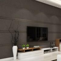 Suede Marble Stripes Wallpaper Non-woven Living Room Bedroom Background Stickers