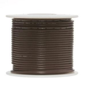 "18 AWG Gauge Stranded Hook Up Wire Brown 250 ft 0.0403"" PTFE 600 Volts"