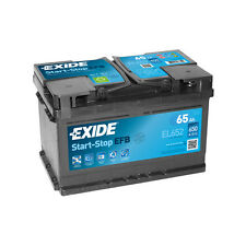 1x Exide Stop Start 65Ah 650CCA 12v 100 EFB Car Battery 4 Year Warranty - EL652